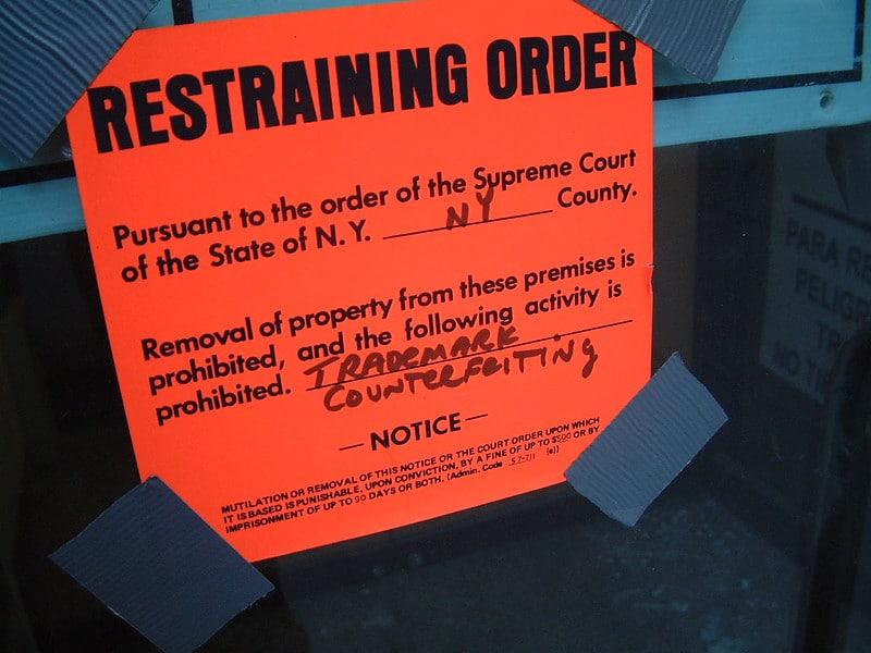 divorce temporary restraining order
